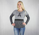 Женская теплая кофта серого цвета, фото 2