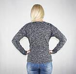 Женская теплая кофта серого цвета, фото 4