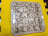 Англійська абетка-пазл, фанера, т. 8 мм, розмір 30х30 см. TERMOIZOL®, фото 3