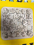 Англійська абетка-пазл, фанера, т. 8 мм, розмір 30х30 см. TERMOIZOL®, фото 4