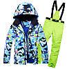 """Лыжный костюм """"Голубые разводы"""" - 6 вариантов, фото 4"""