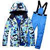 """Лыжный костюм """"Голубые разводы"""" - 6 вариантов, фото 6"""