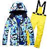 """Лыжный костюм """"Голубые разводы"""" - 6 вариантов, фото 3"""