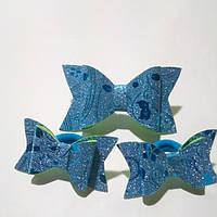 Набор бантиков для волос,голубой