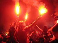 Фаєр, кольоровий вогонь, факел, фальшфейер, червоний, 100 сек., Hand FLARE, фото 1