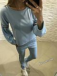 РАСПРОДАЖА!!! Модный костюмчик из французского трикотажа. Ткань - французский трикотаж. р.С-М. код 8027Z, фото 3