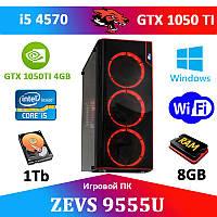 Игровой Монстр ПК ZEVS PC 9555U i5 4570 + GTX 1050TI 4GB +Игры!