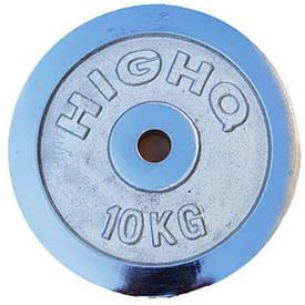 Блины для штанги 10кг (диам. 52мм) ТА-1456