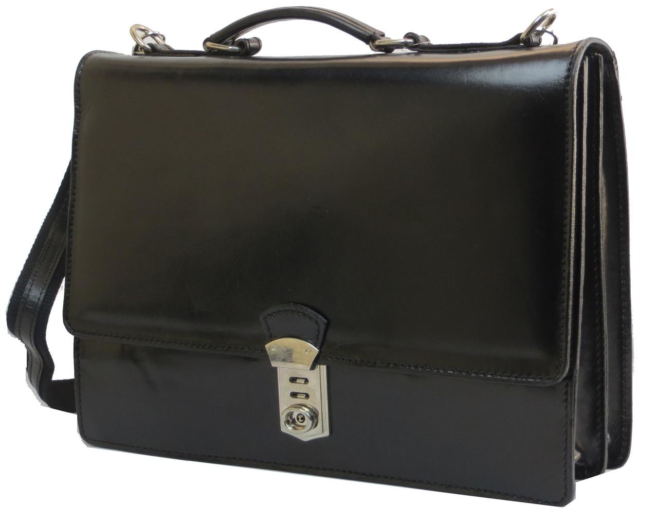 Портфель мужской кожаный TOMSKOR, Польша 81565 черный