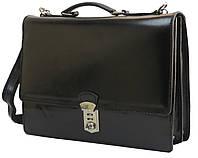 Портфель мужской кожаный Tomskor, Польша черный