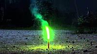 Фаєр, кольоровий вогонь, факел, фальшфейер, зелений, 100 сек., Hand FLARE, фото 1