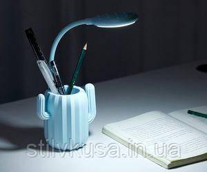 """Лампа-нічник """"Кактус"""" блакитний"""