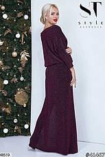 Нарядное вечернее платье макси мятного цвета размер универсальный 42-46, фото 3