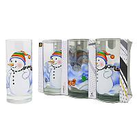 Набор стаканов Uniglass Classico Snowman 270 мл 6 шт. высокие