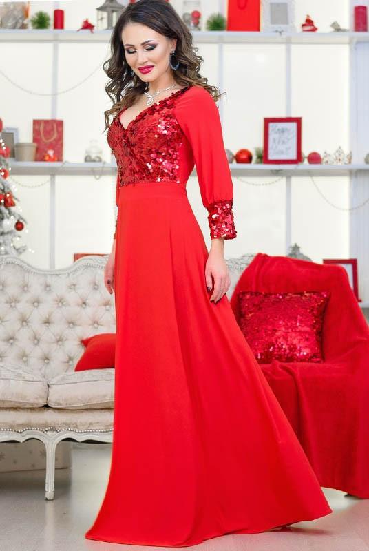 Длинное вечернее платье Жасмин 48-60рр