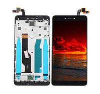 Дисплей для Xiaomi Redmi Note 4X с тачскрином и рамкой черный Оригинал