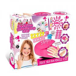 Косметика детская  216-3B-1  набор для маникюра,сушка,раздел.д/пальцев, лак, пилочка, блеск, на батарейке