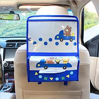Органайзер с карманом для планшета в автомобиль детский Бежевый (04176)