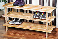 Стильная стойка для обуви из сосны, обувная стойка, шкаф для обуви, полка для обуви, деревянная                     полка, Kesper