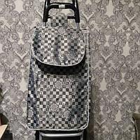 Тележка хозяйственная с сумкой на металлических колесах, фото 1