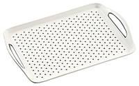 Нескользкий пластиковый белый лоток, поднос для завтрака, поднос для кухни, белый поднос, кухонные                     принадлежности, Kesper