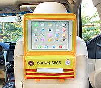 Органайзер с карманом для планшета в автомобиль детский Желтый (04178)