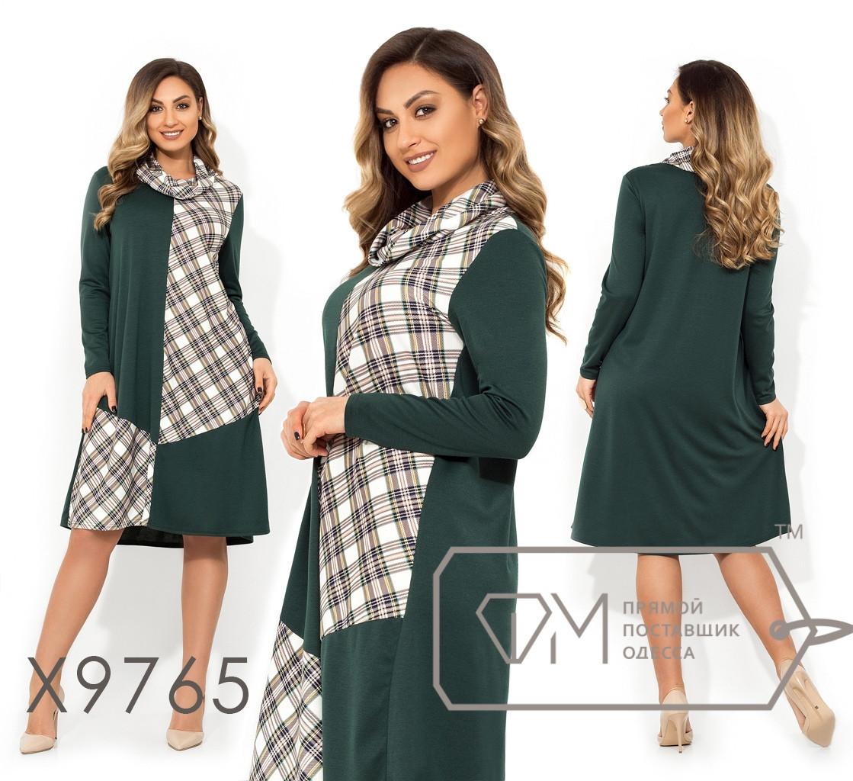 Платье-трапеция длиной миди с fmxомутом в большиfmx размераfmx fmx9765