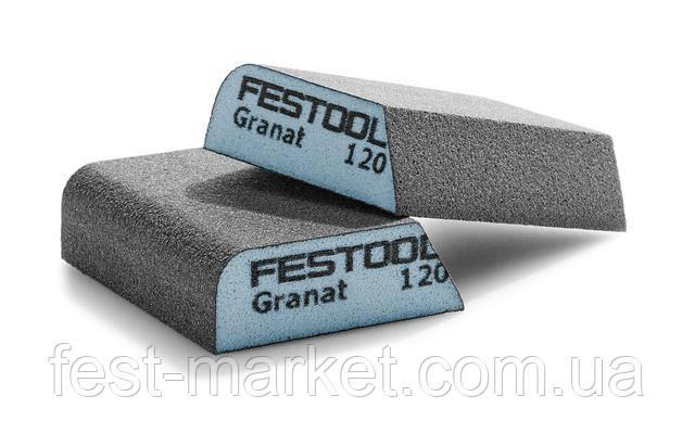 Губка шлифовальная комби-блок 69 мм x 98 мм x 26 мм Р120 CO GR/6 Granat Festool 201084