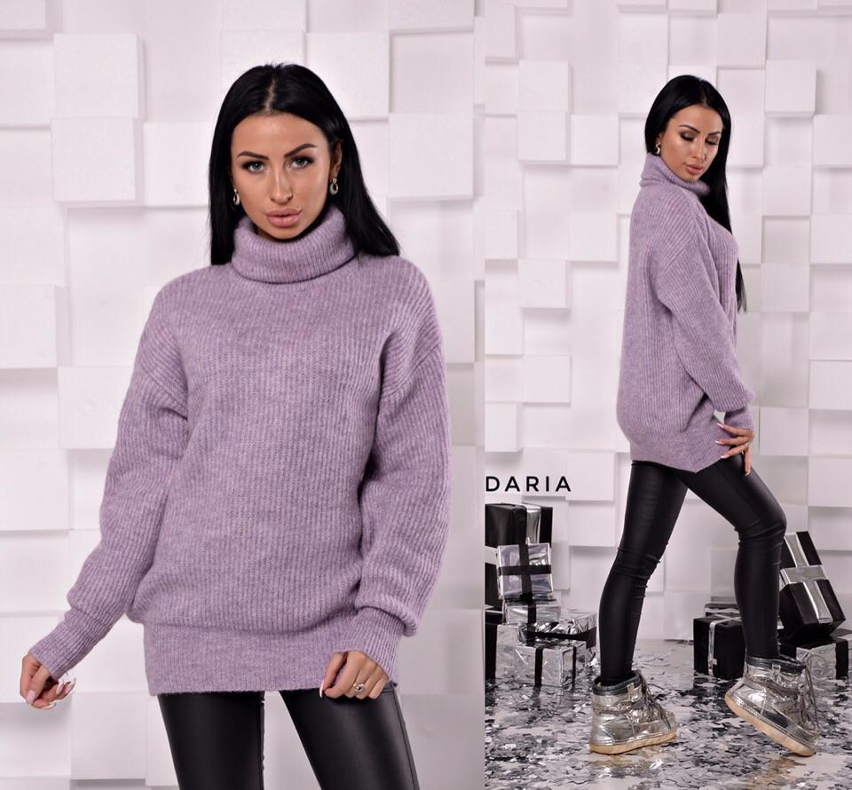 Свободный свитер-туника с высокой горловиной 55sv492