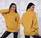 Свободный свитер-туника с высокой горловиной 55sv492, фото 6