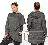 Туника с капюшоном большой размер интернет-магазин женской одежды р. 48-54 6e3675ca2a00f