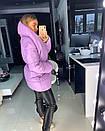 Объемная женская зимняя куртка с воротником-стойкой 18kr174, фото 3