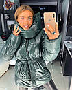 Объемная женская зимняя куртка с воротником-стойкой 18kr174, фото 4