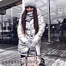 Металлизированная зимняя куртка одеяло с капюшоном 66kr175, фото 2
