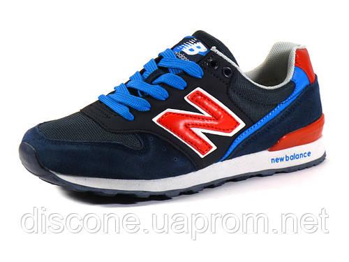 Кроссовки New Balance 996 унисекс, комбинированные, темно-серые/ синие/ голубые/ красные