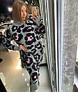 Вязаное длинное платье в леопардовый принт 18py2247, фото 2