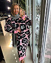 Вязаное длинное платье в леопардовый принт 18py2247, фото 3