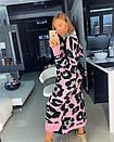 Вязаное длинное платье в леопардовый принт 18py2247, фото 5