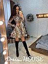 Замшевое платье - трапеция в лео принт 5py2272, фото 3