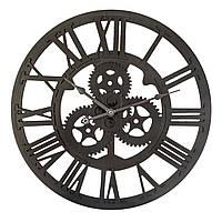 Деревянные часы настенные, круглые часы, часы для гостиной, декоративные часы, ретро-настенные часы,                     черные