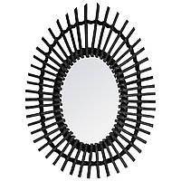 Зеркало на стене в тканой раме, декоративное зеркало, овальное зеркало, зеркало для зала, зеркало в                     ванной,