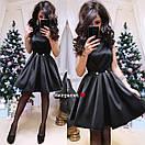 Атласное платье с пышной юбкой без рукава 9py2283, фото 4