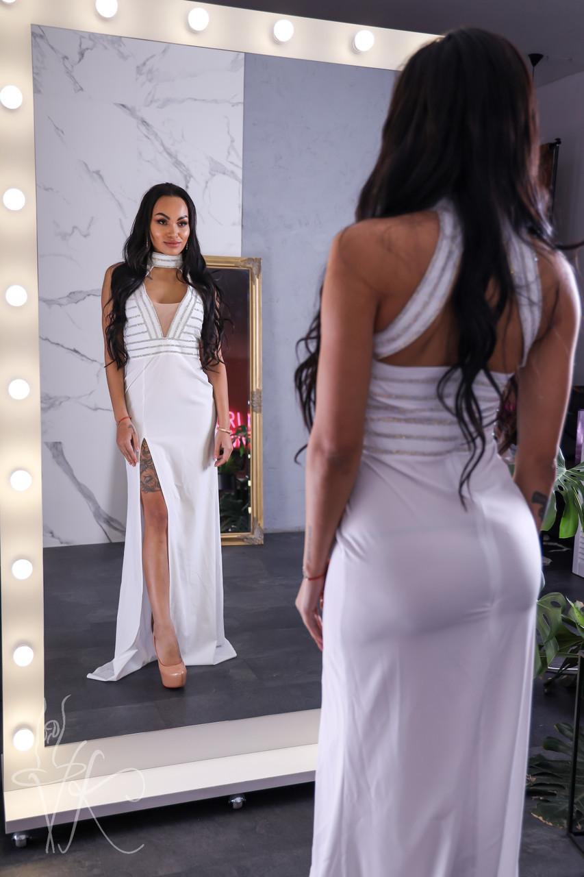 Длинное платье с вырезом-каплей 60py2293