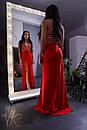 Длинное платье с вырезом-каплей 60py2293, фото 3