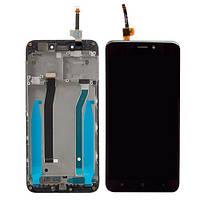Дисплей для Xiaomi Redmi 4X/4X Pro с тачскрином и рамкой черный Оригинал