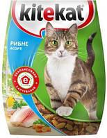 Kitekat сухой корм рыбное ассорти для взрослых кошек 13КГ