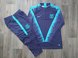 Костюм тренировочный Барселона 2018-2019 фиолетово-бирюзовый