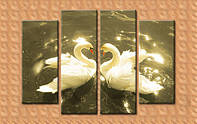 Лебеди (интерьерная модульная картина из частей)