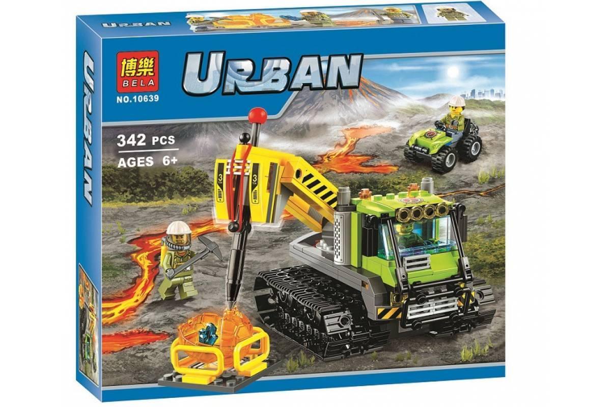 Конструктор Bela 10639 City Всюдихід дослідників вулканів, 342 елементи | аналог Лего City 60122