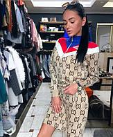 Платье женское вязаное модное GUCCI  , фото 1